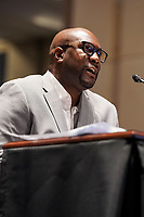 Philonise Floyd, brother of George Floyd, gives his opening statement during a House Judiciary Committee hearing to discuss police brutality and racial profiling on Wednesday, June 10, 2020.<br /> Credit: Greg Nash / Pool via CNP/AdMedia