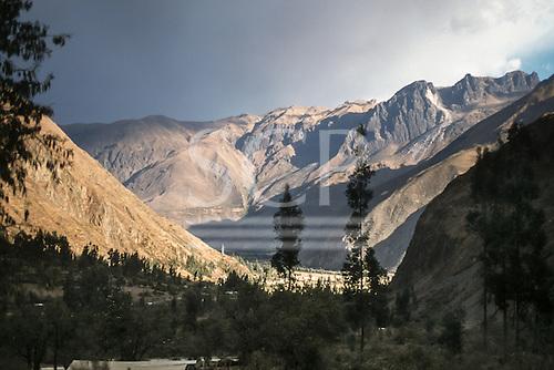 Urubamba Valley, Cusco, Peru. Andean valley landscape.