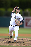 Glendale Desert Dogs pitcher Kevin Vance (41), of the Chicago White Sox organization, during an Arizona Fall League game against the Peoria Javelinas on October 14, 2013 at Camelback Ranch Stadium in Glendale, Arizona.  Glendale defeated Peoria 5-1.  (Mike Janes/Four Seam Images)