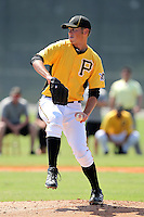 Pittsburgh Pirates pitcher Michael Jefferson #89 during an Instructional League game against the Atlanta Braves at Pirate City on October 14, 2011 in Bradenton, Florida.  (Mike Janes/Four Seam Images)
