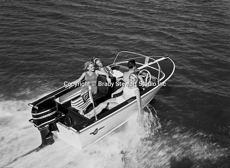 Client: Crestliner Motorboats<br /> Ad Agency: Lando Advertising <br /> Contact: Mr. Ballintine<br /> Product: Crestliner Outboard Motor Boat<br /> Location: Studio work to create a brochure<br /> <br /> View of a Crestliner Motor Boat on the water.