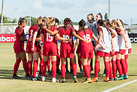 Bradenton, FL - Sunday, June 12, 2018: USA during a U-17 Women's Championship Finals match between USA and Mexico at IMG Academy.  USA defeated Mexico 3-2 to win the championship.