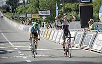 Dries De Bondt (BEL/Verandas Willems) beats Jens Keukeleire (riding for a Belgium National team on this occasion) to the line<br /> <br /> 69th Halle-Ingooigem 2016 (200km)