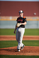 Brenden Murray (16) of Pioneer High School in West Sacramento, California during the Baseball Factory All-America Pre-Season Tournament, powered by Under Armour, on January 14, 2018 at Sloan Park Complex in Mesa, Arizona.  (Zachary Lucy/Four Seam Images)
