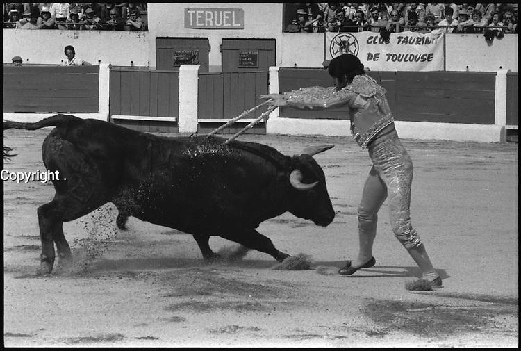 16 Mai 1976. Vue de la corrida de Teruel dans les arènes de Toulouse.