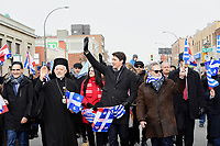 Le premier ministre Justin Trudeau participe au Defile de la fete nationale grecque, le 24 mars 2019.<br /> <br /> <br /> <br /> PHOTO : Agence Quebec Presse
