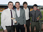 St Johnstone Player of the Year Awards...04.05.13.Highland Saints Supporters Club Top Goalscorer award shared by Steven MacLeand and Murray Davidson presented by Andy Aitken and Robbie Hughan.Picture by Graeme Hart..Copyright Perthshire Picture Agency.Tel: 01738 623350  Mobile: 07990 594431
