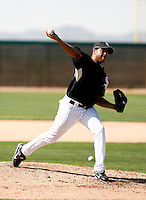 Clevelan Santeliz -  Chicago White Sox - 2009 spring training.Photo by:  Bill Mitchell/Four Seam Images