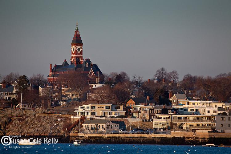 Abbot Hall over Marblehead Harbor, Marblehead, MA, USA