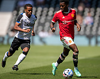18th July 2021; Pride Park, Derby, East Midlands; Pre Season Friendly Football, Derby County versus Manchester United;  Anthony Elanga of Manchester United on the ball