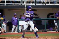 Saul Garza (13) of the LSU Tigers at bat against the Georgia Bulldogs at Foley Field on March 23, 2019 in Athens, Georgia. The Bulldogs defeated the Tigers 2-0. (Brian Westerholt/Four Seam Images)