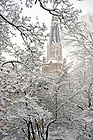 Basilica in snow