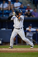 Staten Island Yankees Carlos Gallardo (65) at bat during a NY-Penn League game against the Aberdeen Ironbirds on August 22, 2019 at Richmond County Bank Ballpark in Staten Island, New York.  Aberdeen defeated Staten Island 4-1 in a rain shortened game.  (Mike Janes/Four Seam Images)