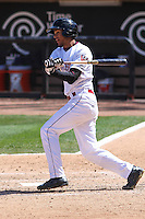 Wisconsin Timber Rattlers shortstop Jake Gatewood (2) at bat during a game against the Cedar Rapids Kernels on April 23rd, 2015 at Fox Cities Stadium in Appleton, Wisconsin.  Cedar Rapids defeated Wisconsin 3-0.  (Brad Krause/Four Seam Images)