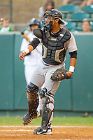 Catcher Roberto Pena #10 of the Greeneville Astros at Calfee Park August 29, 2010, in Pulaski, Virginia.  Photo by Brian Westerholt / Four Seam Images