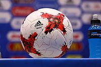 Match Ball am Podium zur Pressekonferenz - 18.06.2017: Pressekonferenz Australien, Fisht Stadium Sotschi