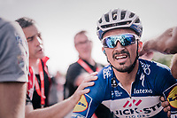 Julian Alaphilippe (FRA/Quick-Step Floors) post-finish<br /> <br /> 104th Liège - Bastogne - Liège 2018 (1.UWT)<br /> 1 Day Race: Liège - Ans (258km)