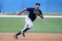 New York Yankees minor league player first baseman Kevin Mahoney #35 during a game vs the Toronto Blue Jays at the Englebert Minor League Complex in Dunedin, Florida;  March 21, 2011.  Photo By Mike Janes/Four Seam Images