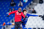 Ulsan Hyundai Forward Kim Yongjin (R) fights for the ball with Muangthong Defender Celio Dos Santos (L) during the AFC Champions League 2017 Group E match between  Ulsan Hyundai FC (KOR) vs Muangthong United (THA) at the Ulsan Munsu Football Stadium on 14 March 2017 in Ulsan, South Korea. Photo by Chung Yan Man / Power Sport Images