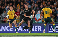 George Bridge in action during the Bledisloe Cup Rugby match between the New Zealand All Blacks and Australia Wallabies at Eden Park in Auckland, New Zealand on Saturday, 17 August 2019. Photo: Simon Watts / lintottphoto.co.nz