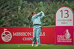 Saraporn Chamchoi of Thailand tees off at 13th hole during Round 3 of the World Ladies Championship 2016 on 12 March 2016 at Mission Hills Olazabal Golf Course in Dongguan, China. Photo by Lucas Schifres / Power Sport Images