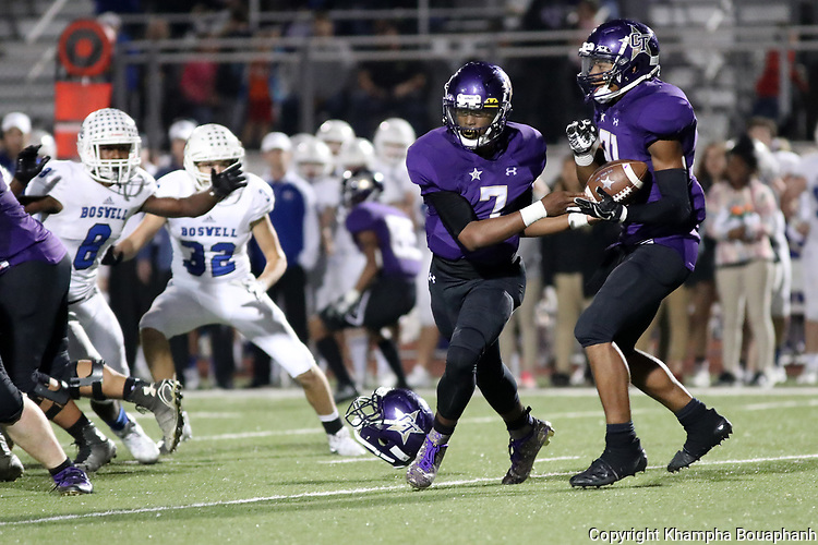 Boswell defeats Chisholm Trail 44-24 in 6-5A high school football at Ranger Stadium in Fort Worth on Friday, November 3, 2017. (photo by Khampha Bouaphanh)