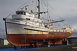 Port Townsend, Port of Port Townsend, boatyard, boats hauled out, Jefferson County, Olympic Peninsula, Washington State, Pacific Northwest, USA,