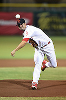 Scottsdale Scorpions pitcher Adam Morgan (19) during an Arizona Fall League game against the Surprise Saguaros on October 15, 2014 at Scottsdale Stadium in Scottsdale, Arizona.  Surprise defeated Scottsdale 13-11.  (Mike Janes/Four Seam Images)