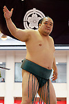 Kitataiki, <br /> APRIL 17, 2017 - Sumo : Annual sumo tournament dedicated to the Yasukuni Shrine in Tokyo Japan. (Photo by Yohei Osada/AFLO SPORT)