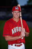 Auburn Doubledays outfielder Andrew Stevenson (3) poses for a photo before a game against the State College Spikes on July 6, 2015 at Falcon Park in Auburn, New York.  State College defeated Auburn 9-7.  (Mike Janes/Four Seam Images)