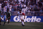 United Arab Emirates vs Iraq during their AFC Asian Cup 1996 Quarter-finals match at Sheikh Zayed Stadium on 15 December 1996, in Abu Dhabi, United Arab Emirates. Photo by Stringer / World Sport Group