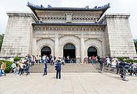 Nanjing, Jiangsu, China.  Sun Yat-sen Mausoleum.