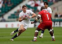 10th July 2021; Twickenham, London, England; International Rugby Union England versus Canada; Freddie Steward of England looking for space in attack