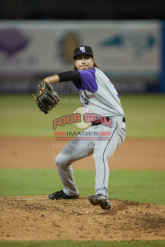 Winston-Salem Dash relief pitcher Caleb Freeman (31) in action against the Greensboro Grasshoppers at First National Bank Field on June 3, 2021 in Greensboro, North Carolina. (Brian Westerholt/Four Seam Images)