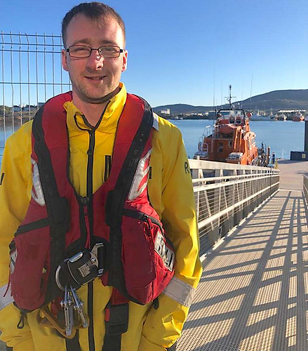 This was the first call-out for Castletownbere lifeboat with Coxswain Aaron O'Boyle (above) in command