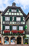 Half-timbered pharmacy in Obernai