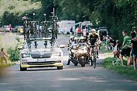 Mathew Hayman (AUS/Mitchelton-Scott) cathing back up with the breakaway group<br /> <br /> Stage 18: Trie-sur-Baïse > Pau (172km)<br /> <br /> 105th Tour de France 2018<br /> ©kramon