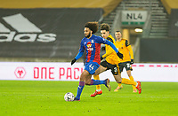 8th January 2021; Molineux Stadium, Wolverhampton, West Midlands, England; English FA Cup Football, Wolverhampton Wanderers versus Crystal Palace; Jairo Riedewald of Crystal Palace breaks with the ball chased by Rayan Ait Nouri of Wolverhampton Wanderers