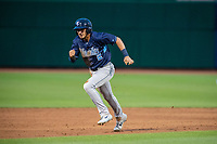 Corpus Christi Hooks infielder Joshua Rojas (2) runs for third base Wednesday, May 1, 2019, at Arvest Ballpark in Springdale, Arkansas. (Jason Ivester/Four Seam Images)