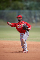 St. Louis Cardinals J.R. Davis (23) during a minor league Spring Training game against the New York Mets on March 28, 2017 at the Roger Dean Stadium Complex in Jupiter, Florida.  (Mike Janes/Four Seam Images)