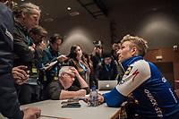 Marcel Kittel's (GER/Quick Step Floors) post-race interview after winning the Scheldeprijs for a record 5th time (in 6 years)<br /> <br /> 105th Scheldeprijs 2017 (1.HC)<br /> 1 Day Race: Mol › Schoten (BEL/202km)