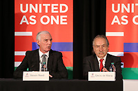 Toronto, Ontario - Saturday December 09, 2017: Canadian Soccer Association President Steven Reed. The United Bid for 2026 FIFA World Cup Presentation to Media was held at the Westin Harbour Castle - Harbour Ballroom.