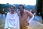 "BERNARDO BERTOLUCCI  CON LA PROTAGONISTA JILL CLAYBURGH<br /> SUL SET DEL FILM ""LA LUNA"" ROMA 1979"