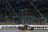 NASCAR Camping World Truck Series<br /> Toyota Tundra 250<br /> Kansas Speedway, Kansas City, KS USA<br /> Friday 12 May 2017<br /> Kyle Busch, Cessna Toyota Tundra celebrates his win with a burnout<br /> World Copyright: Nigel Kinrade<br /> LAT Images<br /> ref: Digital Image 17KAN1nk07779