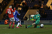 Theo Robinson of Colchester United scores the third goal for his team during Colchester United vs Swindon Town, Sky Bet EFL League 2 Football at the JobServe Community Stadium on 28th January 2020