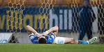 St Johnstone v Stenhousemuir…21.01.17  McDiarmid Park  Scottish Cup<br />Graham Cummins reacts after a bad miss<br />Picture by Graeme Hart.<br />Copyright Perthshire Picture Agency<br />Tel: 01738 623350  Mobile: 07990 594431
