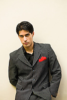 Argentina, Buenos Aires, Tango dancer, solo portrait, young man