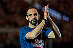 Juan Francisco Torres Belen, Juanfran, of Atletico de Madrid celebrates the team winning the 2018 UEFA Super Cup after the La Liga 2018-19 match between Atletico de Madrid and Rayo Vallecano at Wanda Metropolitano on August 25 2018 in Madrid, Spain. Photo by Diego Souto / Power Sport Images