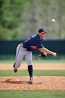 Atlanta Braves Devan Watts (36) during a minor league Spring Training game against the Detroit Tigers on March 25, 2017 at ESPN Wide World of Sports Complex in Orlando, Florida.  (Mike Janes/Four Seam Images)