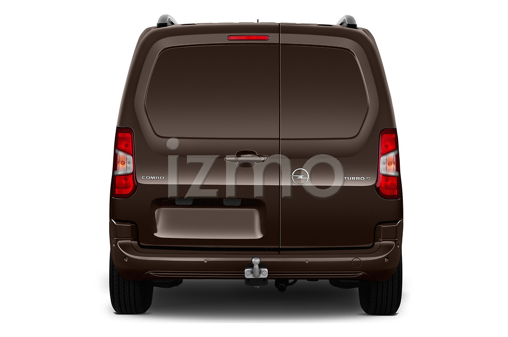 Straight rear view of a 2019 Opel Combo Dynamic 4 Door Car van stock images